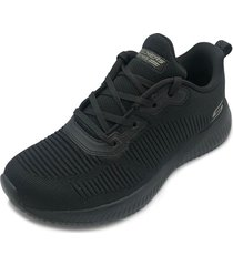 tenis lifestyle skechers bobs sport squad toough talk - negro