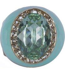 anel armazem rr bijoux resinado pedra verde - tricae