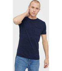 selected homme slhbrooklyn ss crew neck b t-shirts & linnen mörk blå