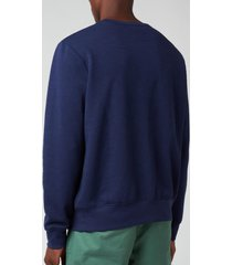 polo ralph lauren men's graphic fleece sweatshirt - newport navy - xxl
