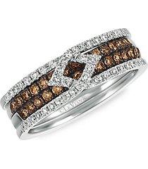 chocolatier® vanilla gold®, chocolate diamond® & vanilla diamond® ring