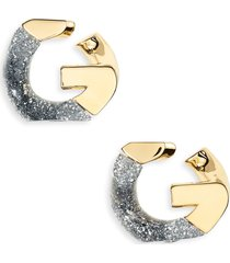 givenchy g-chain glitter earrings in silvery/golden at nordstrom