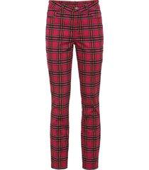 pantaloni elasticizzati a quadri (rosso) - rainbow