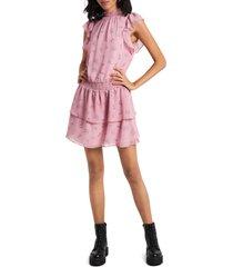 women's 1.state flutter sleeve dress, size small - pink