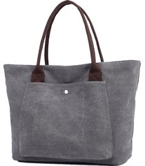 borsa a tracolla per shopping occasionale in tela vintage kvky per le donne