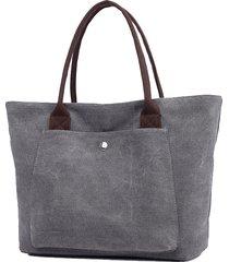 borsa a tracolla per shopping occasionale in tela vintage kvky per le donne