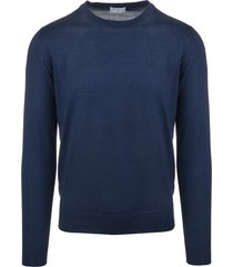 man blue pullover in cashmere and silk