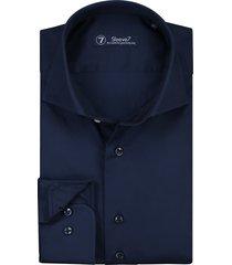 sleeve7 overhemd donkerblauw satijn