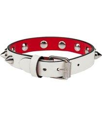 christian louboutin white loubilink bracelet