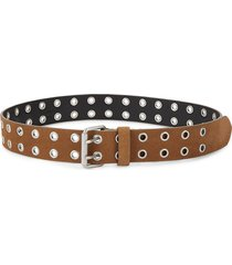 allsaints women's eyelet leather belt - tan - size l/xl