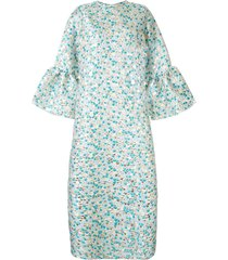 bambah zeynab scale print kaftan dress - blue