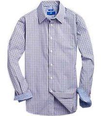 egara green & lavender check sport shirt