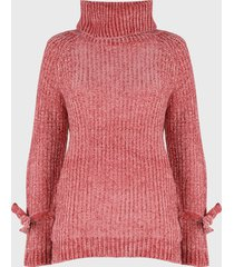 sweater nrg chenille rosa - calce oversize