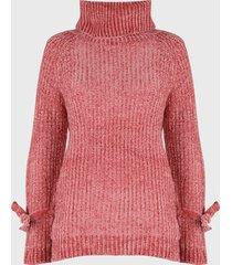 sweater nrg chenille rosa - calce oversize