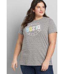 lane bryant women's 90210 graphic tee 14/16 medium heather grey