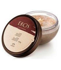 polpa esfoliante hidratação e renovação castanha ekos - 200g