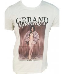 g-brand off white stretch shirt met strass