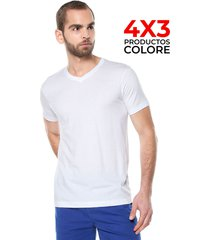 camiseta interior blanco colore