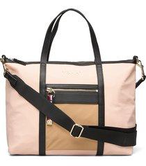 nylon satchel bags top handle bags beige tommy hilfiger