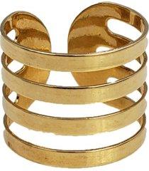 anel papillô joias ajustável faixas, em ouro 18k