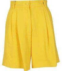 dolce & gabbana yellow viscose blend shorts