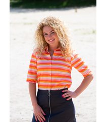 mooi vrolijk blouse flashy colourful stripes