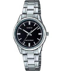 reloj casio dama ltpv 005d-1a  calendario pulso en acero original