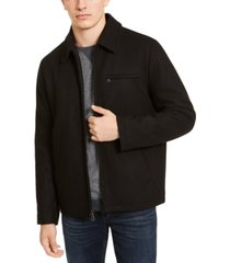 calvin klein men's wool open bottom jacket