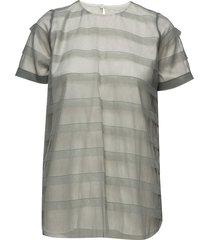 striped tulle tee-shirt blouses short-sleeved grön cathrine hammel
