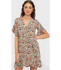 ax paris wrap flower dress loose fit dresses