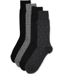 calvin klein men's 4-pack logo dress socks