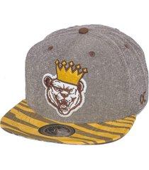 boné other culture snapaback bear king cinza