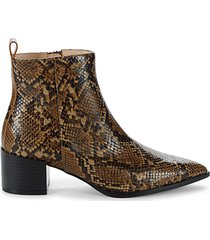emerson snakeskin-embossed leather booties