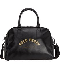 fred perry flames duffle bag