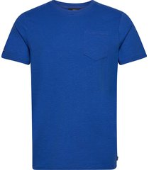 authentic cotton tee t-shirts short-sleeved blå superdry
