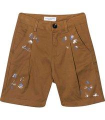 paolo pecora teen shorts with press