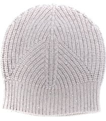 lorena antoniazzi sequin-detail beanie hat - grey