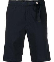 myths belted poplin shorts - blue