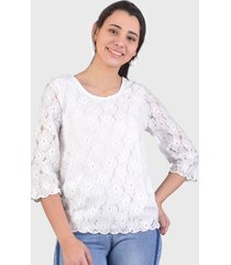 blusa tentation blanco - calce regular