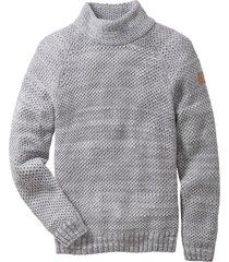 maglione a collo alto (grigio) - rainbow
