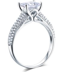 925 sterling silver cathedral engagement ring 1.5 ct princess lab made diamond