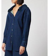 simon miller women's tabor shirt - rinsedown - l