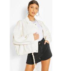 oversized jean jacket, ecru
