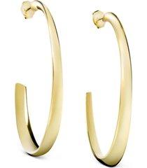 calvin klein groovy pvd gold-tone hoop earrings