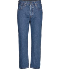 501 crop sansome breeze st jeans mom jeans blå levi´s women