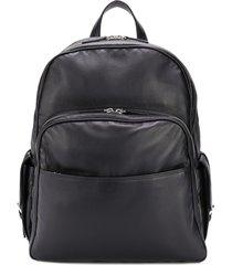 eleventy medium multi-pocket backpack - black