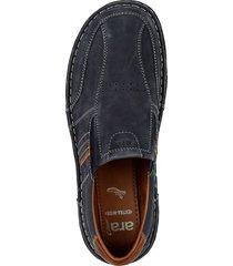 breda skor ara marinblå