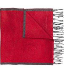 salvatore ferragamo panelled scarf - grey