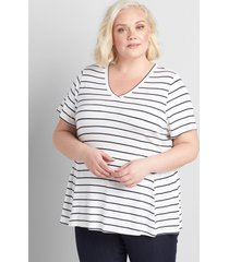 lane bryant women's striped babydoll swing tee stripe
