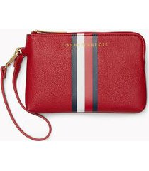 tommy hilfiger women's pebble wristlet tommy red -